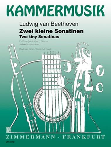 2 Kleine Sonatinen -Flöte Violine Gitarre - laflutedepan.com