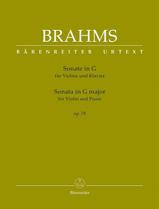 Sonate, op. 78 - Violon et piano - BRAHMS - laflutedepan.com