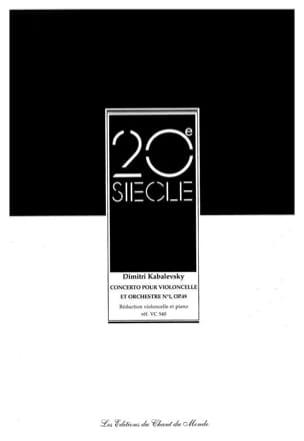 Concerto Violoncelle N° 1 Opus 49 Dimitri Kabalevski laflutedepan