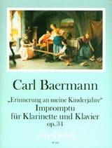Impromptu op. 34 - Klarinette Klavier Carl Baermann laflutedepan