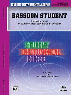 Bassoon Student Instrumental Level Three Henry Paine laflutedepan