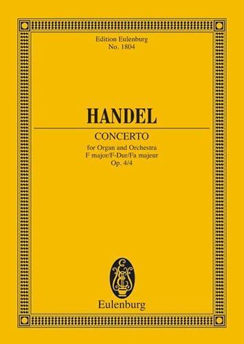 Concerto pour Orgue et Orchestre en Fa Majeur Op. 4/4 - laflutedepan.com