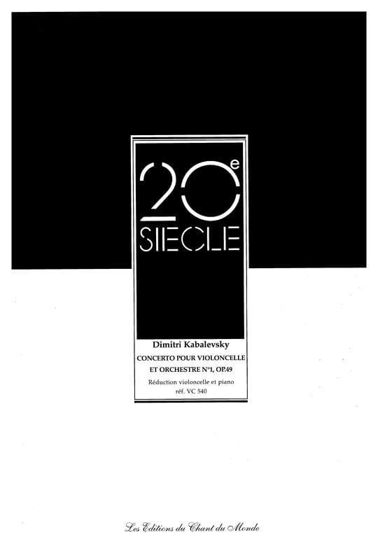 Concerto Violoncelle N° 1 Opus 49 - laflutedepan.com
