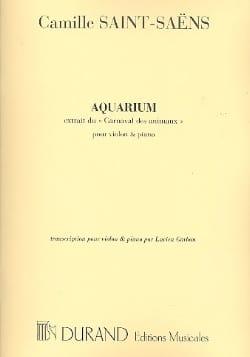 Aquarium SAINT-SAËNS Partition Violon - laflutedepan