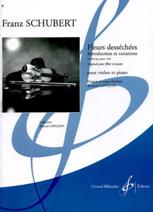 Fleurs desséchées - Violon piano - SCHUBERT - laflutedepan.com