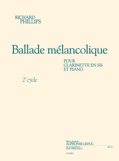 Ballade Mélancolique - Richard Phillips - Partition - laflutedepan.com
