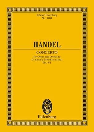 Orgel-Konzert g-moll, op. 4/1 g-moll - HAENDEL - laflutedepan.com