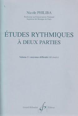Etudes rythmiques à 2 parties vol.3 Nicole Philiba laflutedepan