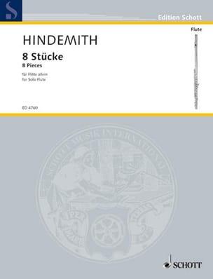 8 Pièces pour flûte solo HINDEMITH Partition laflutedepan