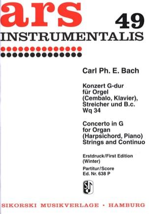 Konzert G-Dur Wq 34- Orgel Streicher Bc laflutedepan
