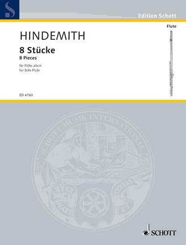 8 Pièces pour flûte solo - HINDEMITH - Partition - laflutedepan.com
