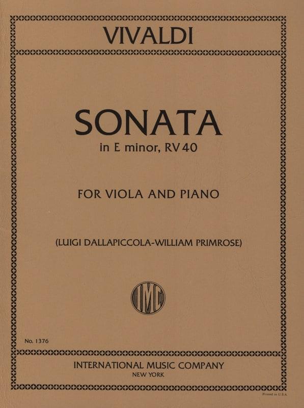 Sonata in E minor RV 40 - Viola - VIVALDI - laflutedepan.com