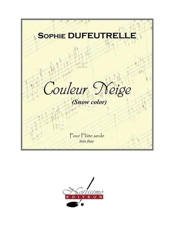 Couleur Neige - Sophie Dufeutrelle - Partition - laflutedepan.com