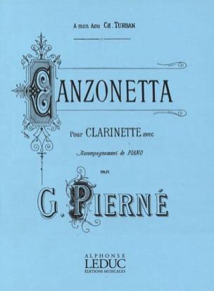 Canzonetta op. 19 PIERNE Partition Clarinette - laflutedepan