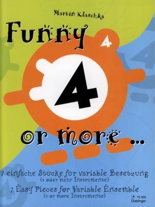 Funny 4 or More... Martin Klaschka Partition ENSEMBLES - laflutedepan