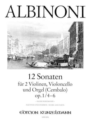 12 Sonates Vol.2 - Op.1 N°4-6 - ALBINONI - laflutedepan.com
