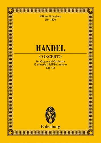 Orgel-Konzert G-Moll, Op. 4/3 - Conducteur - laflutedepan.com