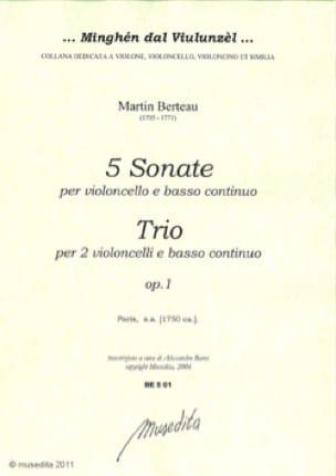 5 Sonates et un Trio - Martin Berteau - Partition - laflutedepan.com