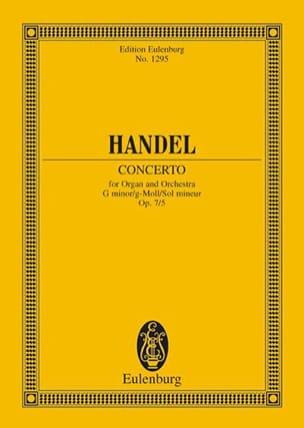 Orgel-Konzert g-moll, op. 7/5 g-moll HAENDEL Partition laflutedepan