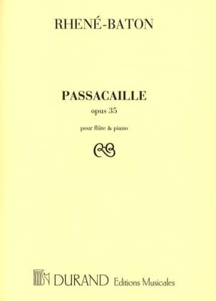 Passacaille Rhené-Baton Partition Flûte traversière - laflutedepan