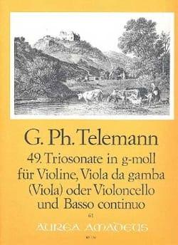 Triosonate Nr. 49 in g-moll -Violine Viola Bc TELEMANN laflutedepan