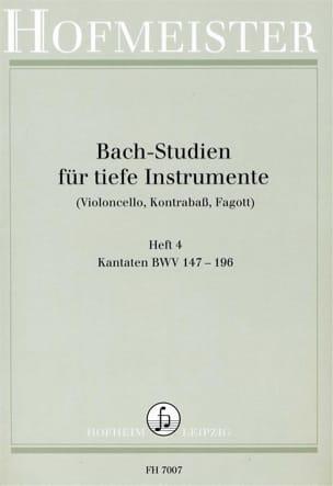 Bach Studien für tiefe Instr. - Heft 4 BACH Partition laflutedepan