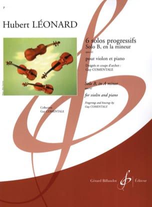 Solo B en la mineur op. 62 Hubert Léonard Partition laflutedepan
