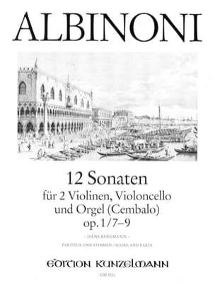 12 Sonates Vol.3 - Op.1 N°7-9 ALBINONI Partition laflutedepan