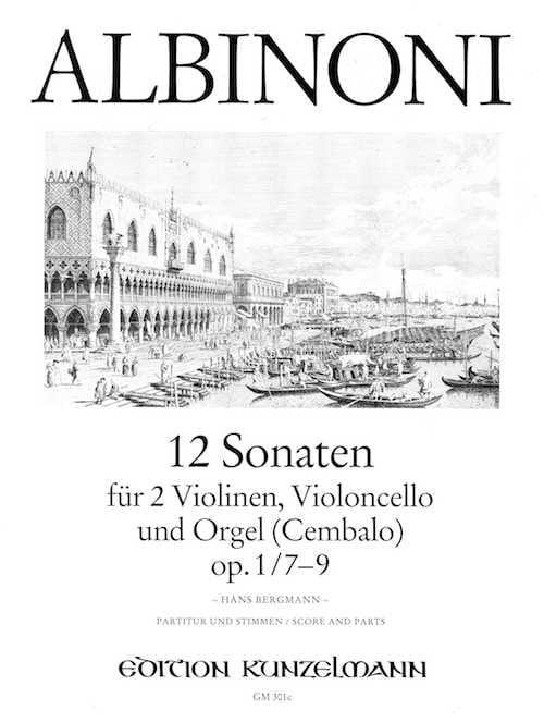 12 Sonates Vol.3 - Op.1 N°7-9 - ALBINONI - laflutedepan.com