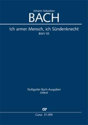 Cantate BWV 55 - Conducteur - BACH - Partition - laflutedepan.com