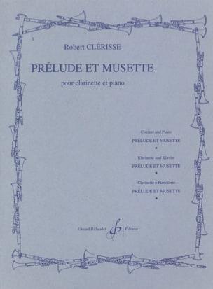 Prélude et Musette Robert Clérisse Partition Clarinette - laflutedepan