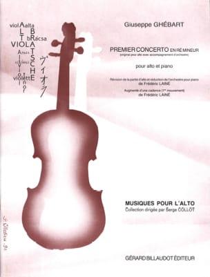 Concerto n° 1 en ré mineur Giuseppe Ghébart Partition laflutedepan