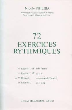 72 Exercices rythmiques - Volume 2 Nicole Philiba laflutedepan