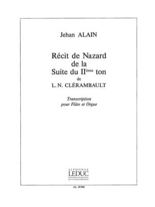 Recit de Nazard - Flûte orgue Jehan Alain Partition laflutedepan