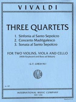 3 Quartets -Parts VIVALDI Partition Quatuors - laflutedepan