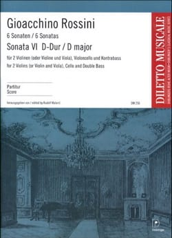 Sonate n° 6 D-Dur - Partitur ROSSINI Partition laflutedepan