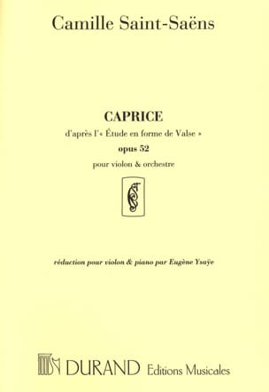 Camille Saint-Saëns - Caprice according to the Waltz Study op. 52 - Partition - di-arezzo.com