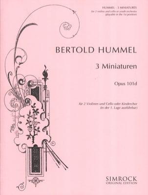 3 Miniaturen - 2 Violinen Cello HUMMEL Partition Trios - laflutedepan