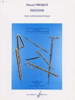 Phonons Marcel Fremiot Partition Flûte traversière - laflutedepan