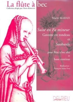 Suite en fa mineur Marin Marais Partition Flûte à bec - laflutedepan