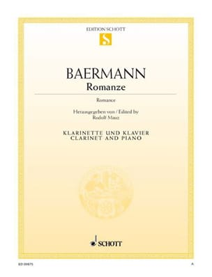 Romance Carl Baermann Partition Clarinette - laflutedepan