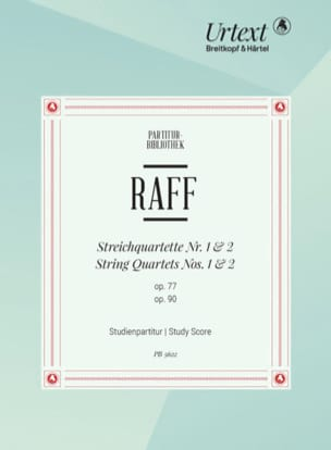 Quatuors à Cordes n° 1 et 2 Joachim Raff Partition laflutedepan