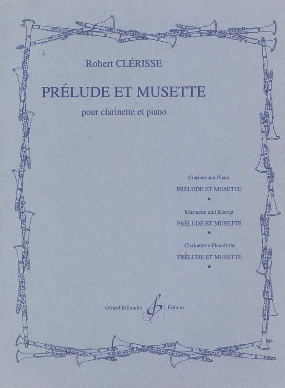 Prélude et Musette - Robert Clérisse - Partition - laflutedepan.com