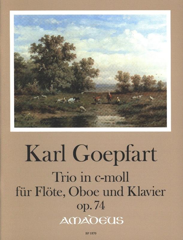 Trio, op. 74 - Flûte, Hautbois et piano - laflutedepan.com