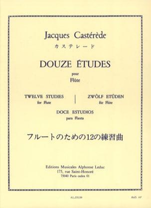12 Etudes - Flûte Jacques Castérède Partition laflutedepan