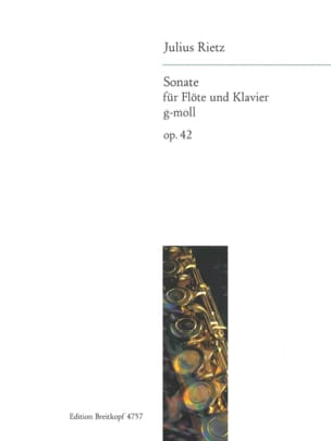 Sonate g-moll op. 42 - Flöte Klavier Julius Rietz laflutedepan