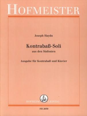 Kontrabass - Soli HAYDN Partition Contrebasse - laflutedepan