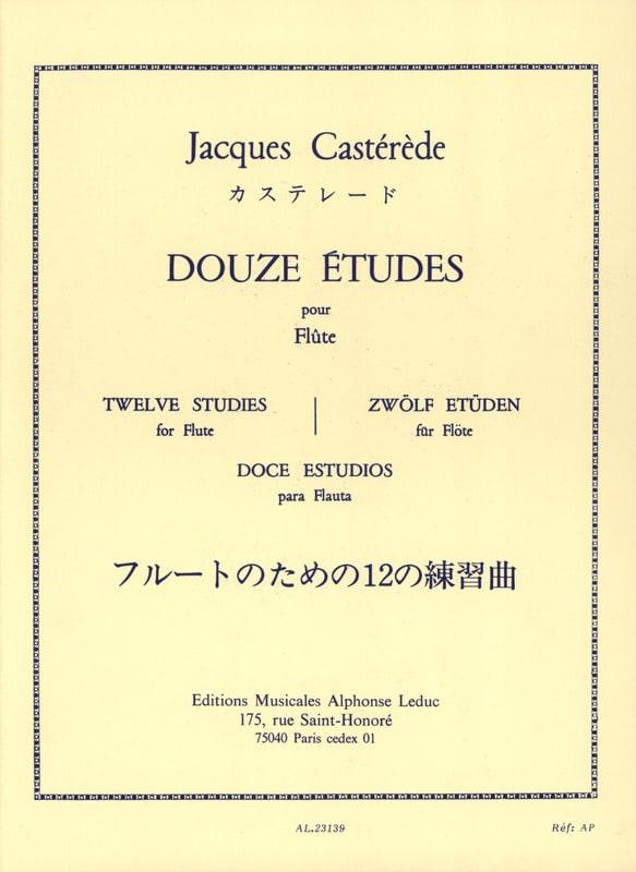 12 Etudes - Flûte - Jacques Castérède - Partition - laflutedepan.com