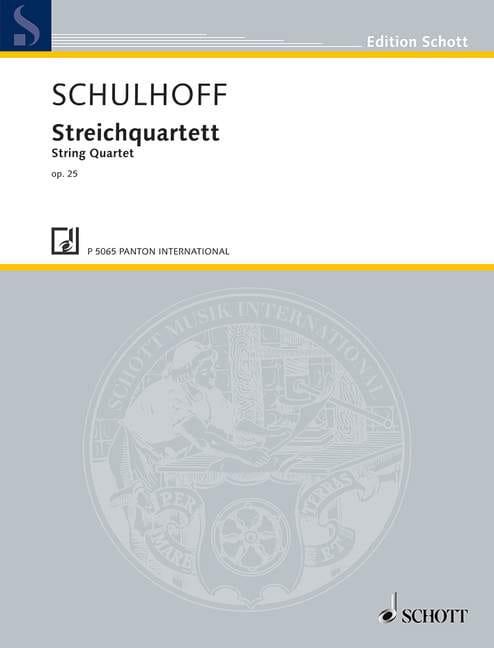 Quatuor A Cordes Op.25 - Erwin Schulhoff - laflutedepan.com
