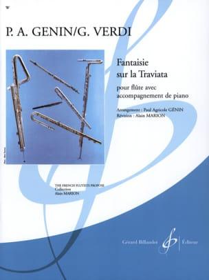 Fantaisie sur la Traviata VERDI Partition laflutedepan